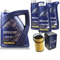 Ölwechsel Set 8L MANNOL Defender 10W-40 Motoröl + SCT Filter KIT 10201007