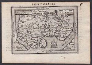 Dithmarschen Schleswig-Holstein Karte map carte Ortelius 1609 engraving gravure