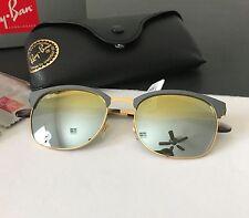 Ray Ban RB3538 9007/A7 Highstreet Gray Metal Gold Iridium Mirror Sunglasses NWT