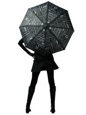 Designer Wine Umbrella Black 42 Inch Custom Wine Design Retractable Handle