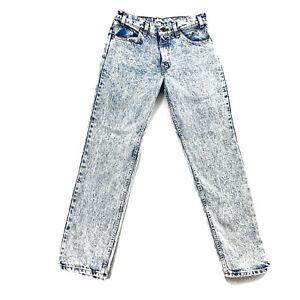 Vintage Levis 506 Orange Tab Jeans Acid Wash Bleach 32x32 Actual 31x31 USA