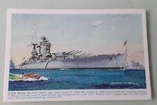 HMS NELSON SALMON WATERCOLOUR POSTCARD