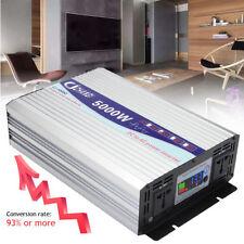 Power Inverter 5000W Dual LCD Display Pure Sine Wave DC12V To AC110V Home RV GMC