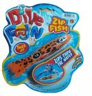 DIVE FUN ZIP FISH ZIPS THRU THE WATER Tossing Pool Toy Water Play Toy Age 6
