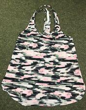 Lululemon Water Bound Singlet Tank Top 4  Wamo Camo Pink Black Laser Cut
