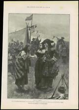 """1888 - Antique Print FINE ART """"For Faith and Freedom"""" Walter Besant   (039)"""