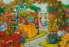 .PUZZLE.JIGSAW....WERNERSBACH...Romantic Rose Garden......750pc