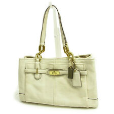 Coach Tote bag Beige Gold Woman Authentic Used Y3519