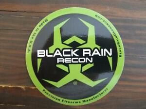 BLACK RAIN ORDNANCE RECON  PRECISION FIREARM Glossy GREEN & Black STICKER DECAL