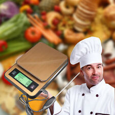 Digital LCD Electronic Weighing 2Kg Scales Wooden Household Chef Cooking Food