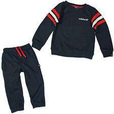 Adidas Niños Crew Bebé Jogger Chándal chándal pantalones azules Rojo Blanco