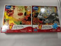 Disney Expressions Lot of 2 Pair of 300 Large Piece Jigsaw Puzzles