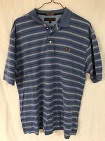 Tommy Hilfiger Golf Polo Shirt Size L Cotton Short Sleeve Men's Blue Stripes