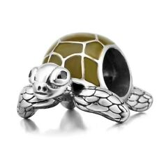 Tortoise Turtle Charm Bead 925 Sterling Silver