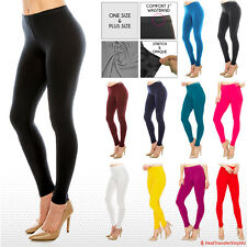 Women's Buttery Ultra Soft Premium Solid Color Leggings - One Size and Plus Size