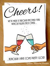 Funny Anniversary Wedding Card Husband Wife Couple Killing Cheeky Joke Blunt Fun