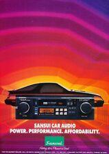 1985 Chrysler Laser Sansui Stereo Original Advertisement Print Art Car Ad K47