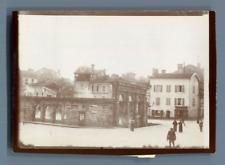France, Dax, Fontaine d'eau chaude  Vintage citrate print. Landes Tirage