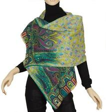NEW ETRO PAISLEY FLORAL CASHMERE SILK OVERSIZED SHAWL WRAP SCARF STOLE