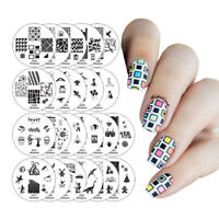 Winstonia Easy Nail Art Stamping Plates Set Image Bundle Manicure Template Discs