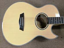 Washburn EA20 Acoustic-Electric Guitar, Spruce Top, Flame Maple, Mini Jumbo, Nat