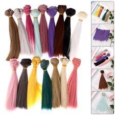 15cm Länge Hochtemperatur-Material Multicolor Dicke Perücken Puppe Haar DIY