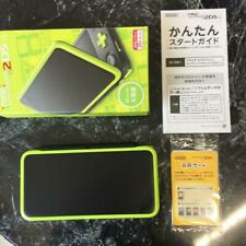 Nintendo 2DS LL Black x Lime Console System Game Free Ship