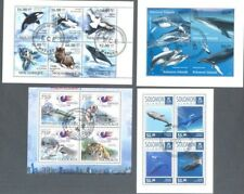 Whales(mainly)+ other Animals on stamps 10 different min sheet collection
