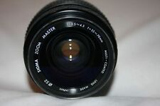 Sigma Zoom Master for Minolta 35-70mm f/1:3.5-4.5 Multi Coated Manual Lens Caps