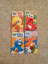 New Set of 4 Sesame Street Elmo & Friends Zoo Bed Bath Body Learning Board Books