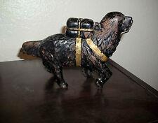 Vintage Dog Cast Iron Coin Bank, Antique St. Bernard
