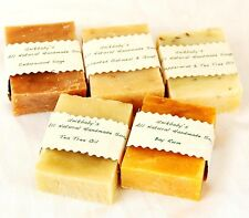 Unikbaby's All Natural Handmade Soap 5 bar Christmas holiday gift set for men