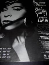 Shirley Lewis You Can't Conceal Passion 1989 Promo Ad