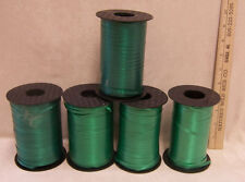 Lot of 5 Curling Ribbon Spools Crafts Shades of Green Balloons  Gifts