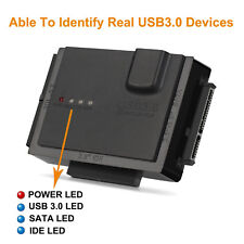 "USB 3.0 to Sata IDE Converter for 2.5"" 3.5"" 5.25"" Hard Drive Disk HDD SSD IDE"