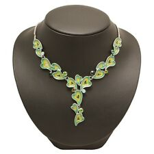 BNWT Green and Yellow Y Necklace - Bedazzled