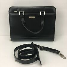 Franklin Covey Black Faux Leather 7 Ring Planner Organizer With Shoulder Strap