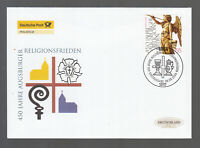Germany 2005 beautiful FDC -  450 years of religious peace in Augsburg