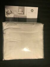 "Hotel Collection ""Pleated Stripe"" White Queen Duvet Cover [New]"
