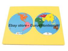 New Montessori Geography-World Puzzle Map