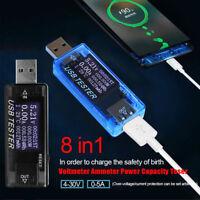 8 IN1 USB 3.0 Digital-Multimeter Amperemeter Voltmeter Wattmeter Leistungsmesser