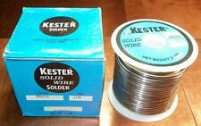 "NOS Kester Solid Wire Solder 5lb Spool 50/50 Tin Lead Alloy .125"" Made in USA!!!"