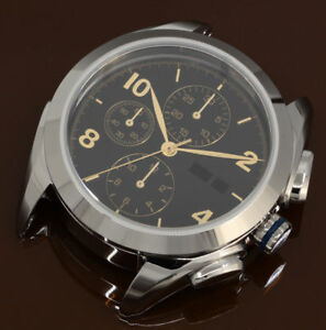 DIY KIT ETA Valjoux 7750 Watch Case + Dial + Hands 2x Sapphire 42mm watches mens