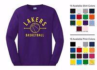Lakers Basketball Sports Team Adult Long Sleeve T-shirt