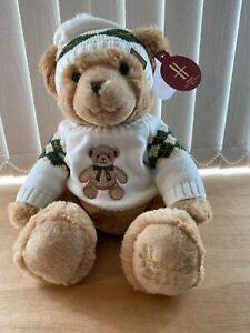 Harrods 2021 Xmas Bear named Angus - Brand New with Tags - 32cms tall soft toy