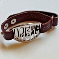 Pulsera de cuero y acero (Miss Sixty). Authentic cuir/steel Miss Sixty bracelet