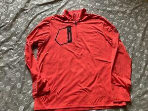 Ralph Lauren RLX Detroit Golf Club 1/4 zip Pullover pink sz XL