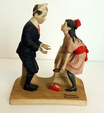 Norman Rockwell 1980 First Dance Figurine Statue Porcelain Japan Jr. Prom