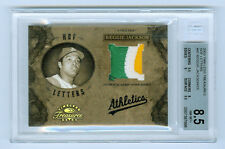 Reggie Jackson 2003 Timeless Treasures HOF Letters 12/15 Athletics Jersey Patch