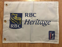 RBC Heritage Screen Printed Pin Flag PGA Tour Souvenir Flag Tiger Woods